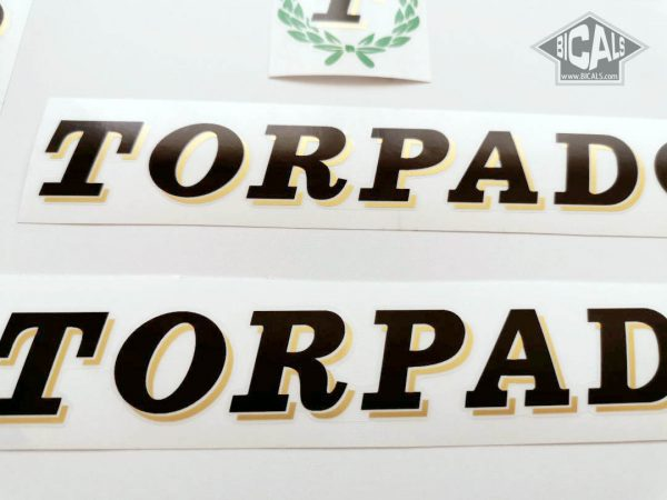 TORPADO Cicli black decal set BICALS
