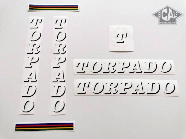 TORPADO Cicli white decal set BICALS
