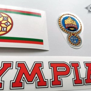 OLYMPIA Borghi Cicli red bicycle decal set BICALS
