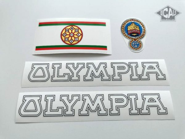 OLYMPIA Borghi Cicli white bicycle decal set BICALS