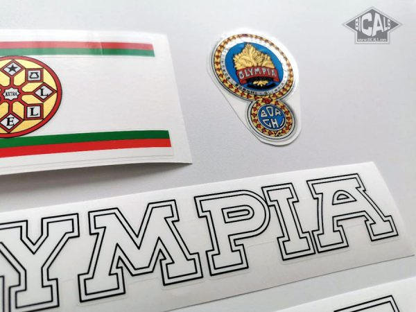 OLYMPIA Borghi Cicli white bicycle decal set BICALS1
