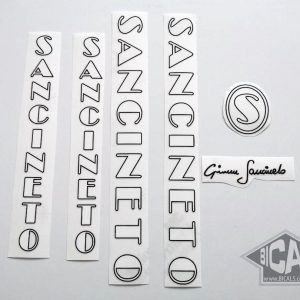 SANCINETO white black decal set BICALS