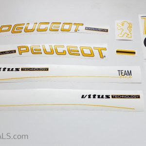 PEUGEOT ZX1 yellow letter decal set BICALS 2