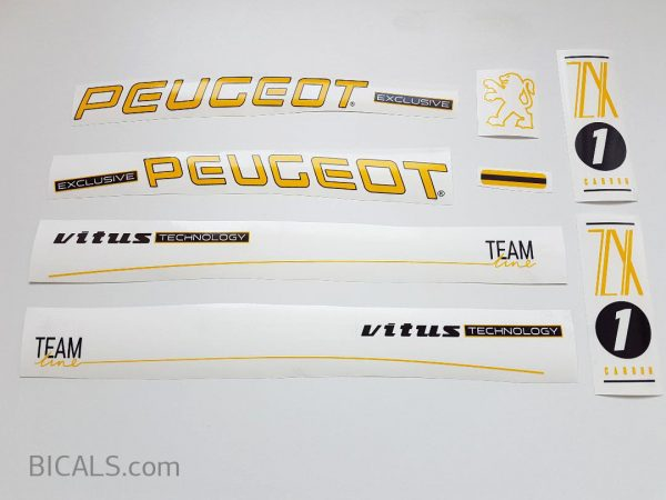 PEUGEOT ZX1 yellow letter decal set BICALS 1