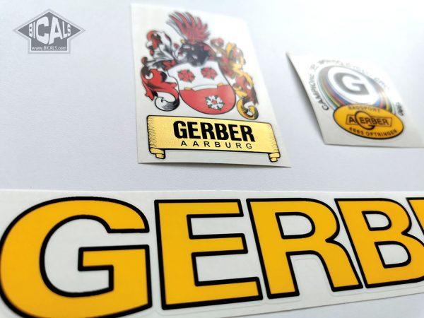 GERBER Aarburg Swiss yellow decal set BICALS 1