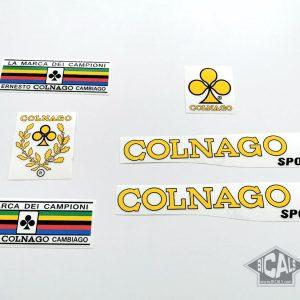 Colnago Sport 70s yellow decal set BICALS