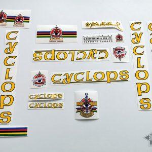 Cyclops Mulholland Toronto Canada bicycle decal set BICALS