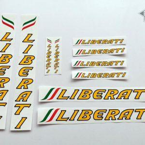 Liberati Cicli yellow decal set BICALS