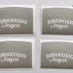 Ambrosio disc wheel by Logos shablon stencil for painting BICALS