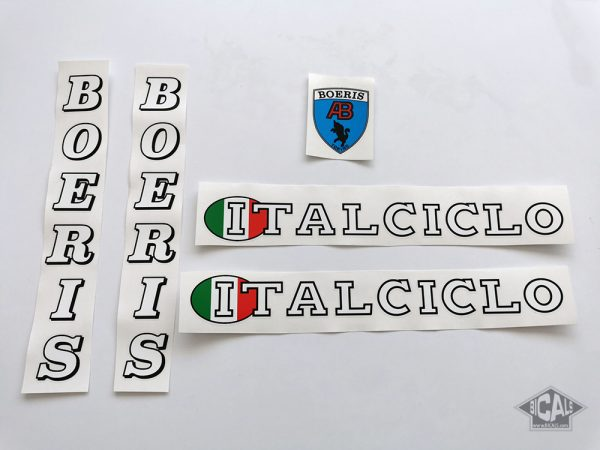 Italciclo Boeris white letters decal set BICALS 1