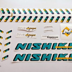 Nishiki Tri A equipe decal set BICALS