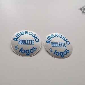 AMBROSIO Roulette by Logos disc wheel valve cover sticker BICALS