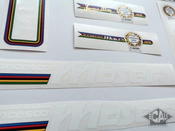 Moser Francesco white letters version V1 decal set BICALS 1