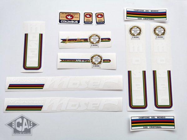 Moser Francesco white letters version V1 decal set BICALS
