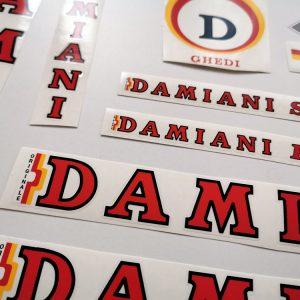 DAMIANI SR red bicycle decal set BICALS