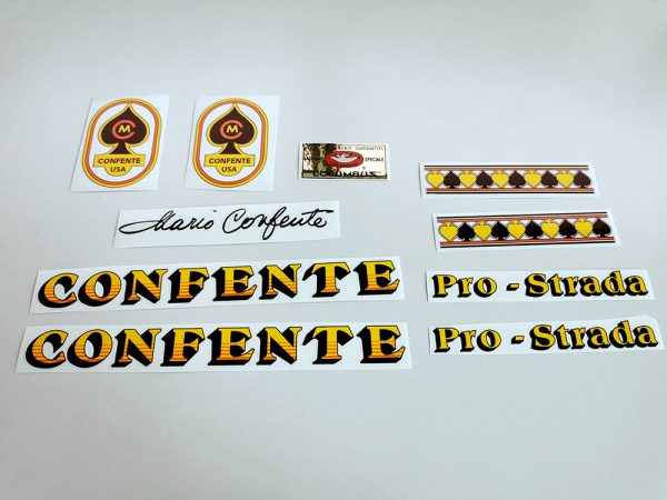 CONFENTE Mario cicli bicycle decal set BICALS