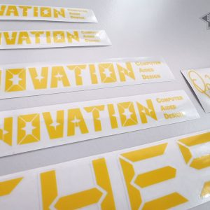 Chesini Innovation yellow version decal set BICALS