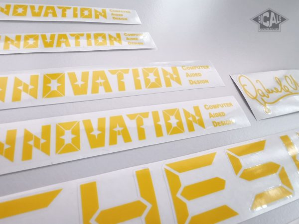 Chesini Innovation yellow version decal set BICALS 1