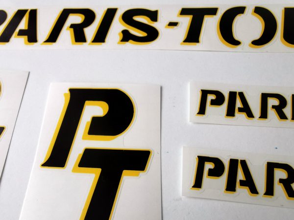 Paris Tours France velo bicycle decal set BICALS 1