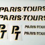 Paris Tours France velo bicycle decal set BICALS