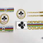 COLNAGO SUPER early 70 PLAYING CARD bicycle decal set BICALS